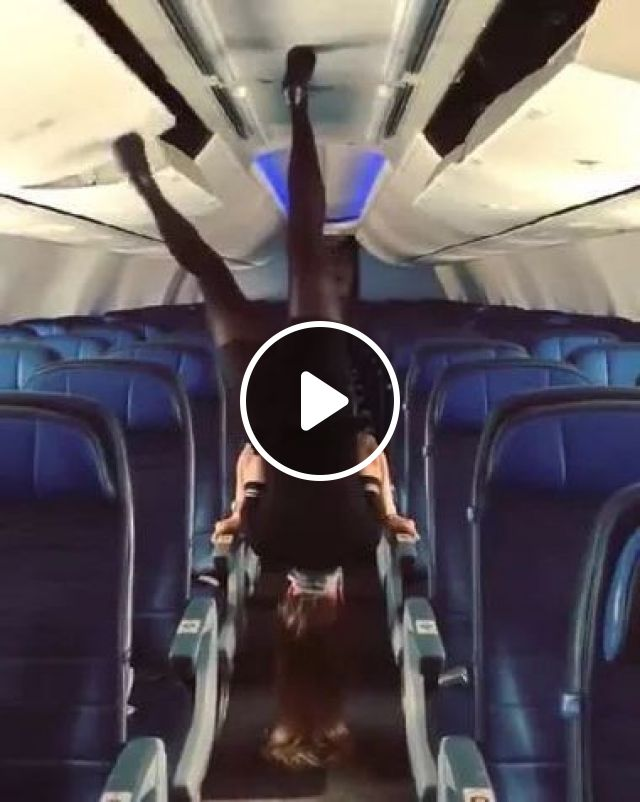 Flight Attendants Close Luggage Compartments On The Travel Plane - Video & GIFs | nature & travel, stewardess, female fashion, luggage compartment, travel plane