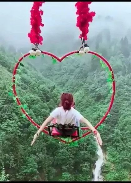 China travel,swing on the mountain - Video & GIFs   nature & travel,china travel,mountain travel